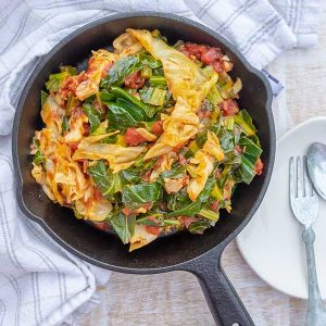 Hearty Cabbage with Collard Greens Recipe