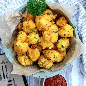 Gluten-Free Ham and Cheese Fritters