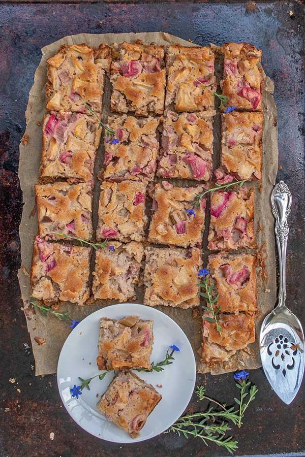 Gluten-Free Rhubarb Apple Coffee Cake