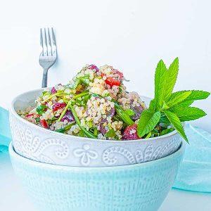 Sweet Summer Quinoa Arugula Salad