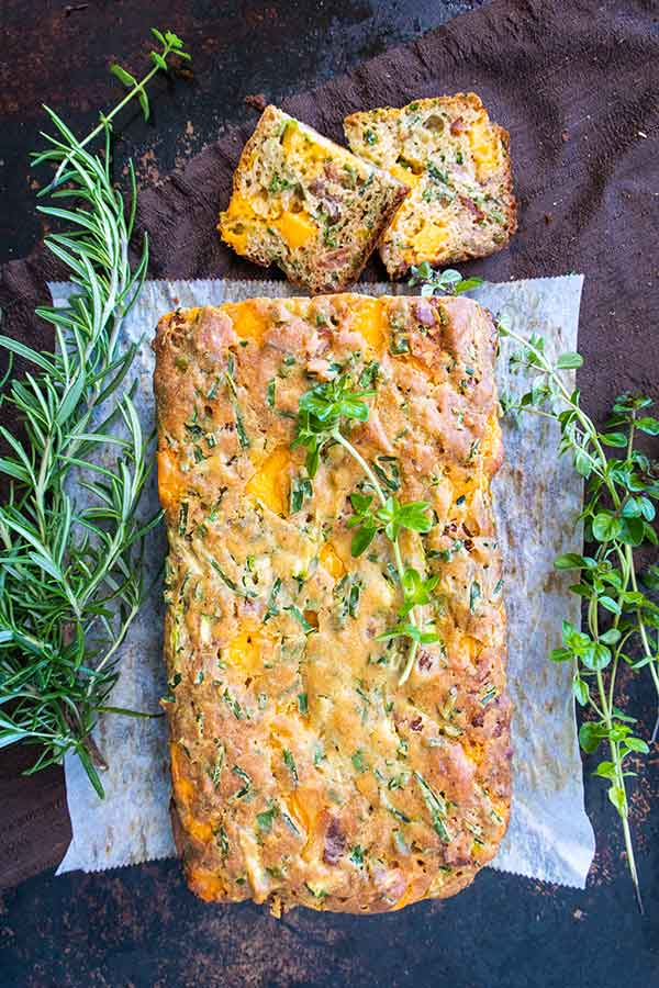 Gluten-Free Bacon and Cheese Bread