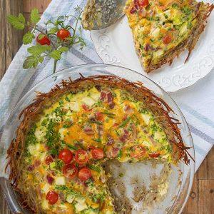 Gluten-Free Potato Crusted Quiche