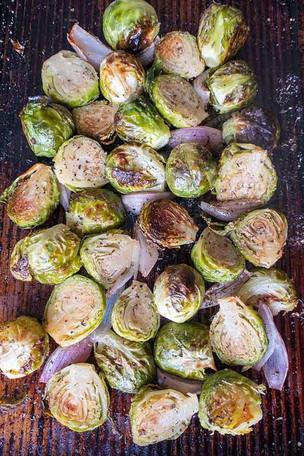 Roasted Brussel Sprouts with Shallots