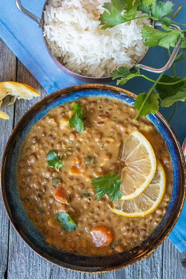 Instant Pot Somali Lentil Stew