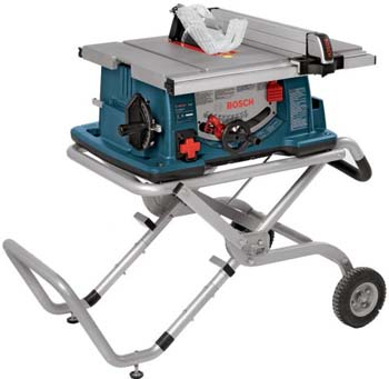 3. Bosch 10-Inch Worksite Table Saw 4100-09 with Gravity-Rise Wheeled Stand