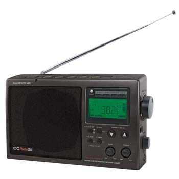 8. C. Crane CCRadio-2E Enhanced Portable AM FM Weather and 2-Meter Ham Band (Black) CC2BE