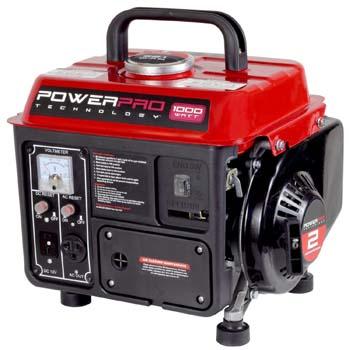 1. PowerPro 56101, 900 Running Watts/1000 Starting Watts, Gas Powered Portable Generator