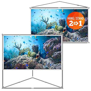 10. JaeilPLM 100-Inch 2-in-1 Portable Projector Screen