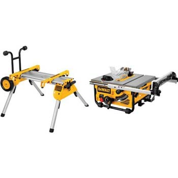 1. DEWALT DW7440RS Rolling Saw Stand with DW745 10-Inch Compact Job-Site Table Saw