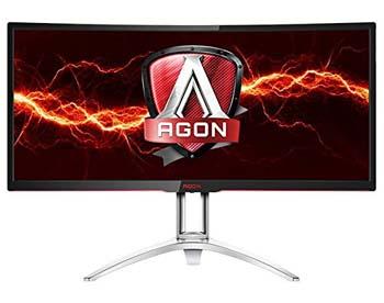 "3. AOC AGON AG352UCG 35"" Curved Gaming Monitor, G-SYNC, WQHD (3440x1440), VA Panel, 100Hz, 4ms, Height Adjustable, DisplayPort, HDMI, USB 3.0"