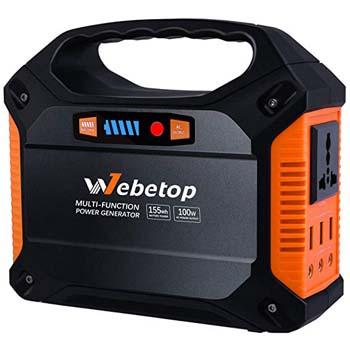 4. Webetop 155Wh 42000mAh Portable Generator Power Inverter