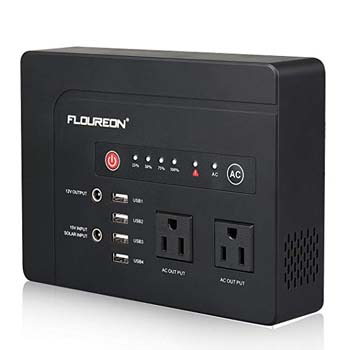 5. FLOUREON 42000mah Portable Power Station Emergency External Battery Pack Generator Backup