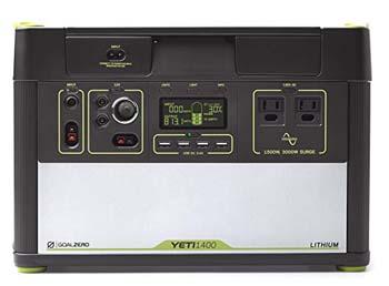 6. Goal Zero Yeti 1400 Lithium Portable Power Station Generator