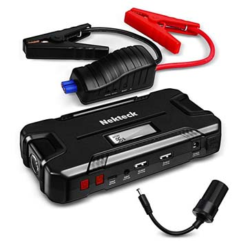 1. Nektek Car Jump Starter, 500A with 12000mAh