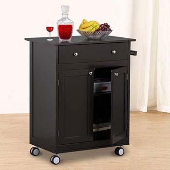 6. Go2buy Wood Single Drawer Cabinet