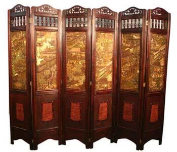9. Asian Home Vintage Room Divider
