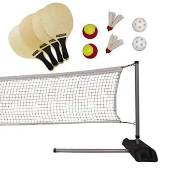 2. Set of Pickleball, Badminton and Quickstart Tennis Net by Lifetime