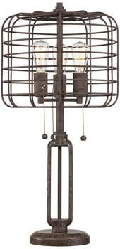 8). Industrial Cage Edison Bulb