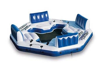 8. Intex Pacific Paradise Relaxation Station Water Lounge 4-Person River Tube Raft