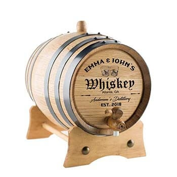 9. Personalized-custom Engraved Premium Oak Aging Barrel.