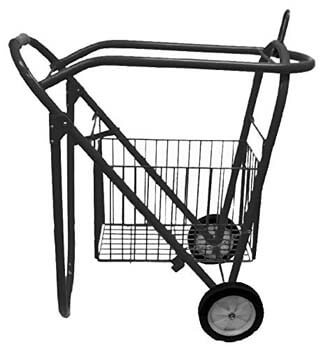2. Rolling Saddle Rack-Cart with Basket from Showman