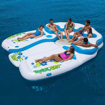 4. Tropical Tahiti 7-Person Floating Island with Two Sun tanning Deck