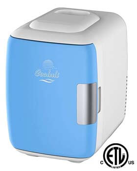 1. Mini Fridge Electric Cooler and Warmer by Cooluli