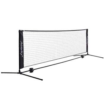 6. Mini Portable Tennis and Soccer Tennis Net for Kids by Aoneky