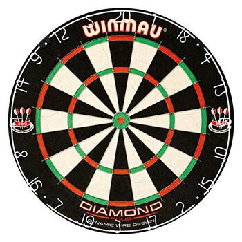 1. Winmau Diamond plus Tournament Bristle Dartboard