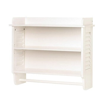5. Gifts and Décor Nantucket Home White Bathroom Organizer