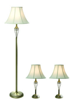 3. Elegant Designs LC1001ABS Three Pack Lamp Set
