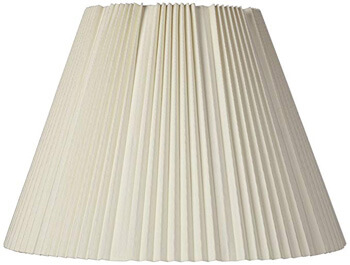 2. Brentwood Eggshell Pleated Lamp Shade
