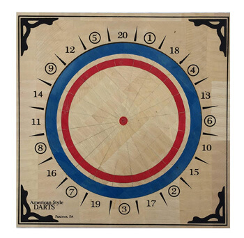 5. American Style Wood Dartboard