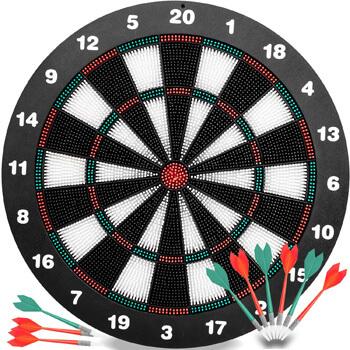 3. Innocheer Safety Darts and Kids Dart Board Set