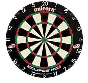 10. Unicorn Eclipse HD2 High Dartboard