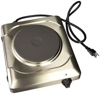 4. Cadco PCR-1S Professional Cast Iron Range, Stainless
