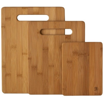 7. Totally Bamboo 3-Piece Bamboo Serving and Cutting Board Set