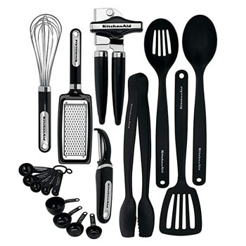 4. KitchenAid KC448BXOBA 17-Piece Tools and Gadget Set