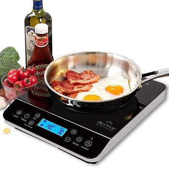 3. Duxtop LCD 1800watts Portable Induction Cooktop Countertop Burner