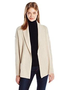 7. Sofia Cashmere Women's Texture Shawl Collar Cardigan