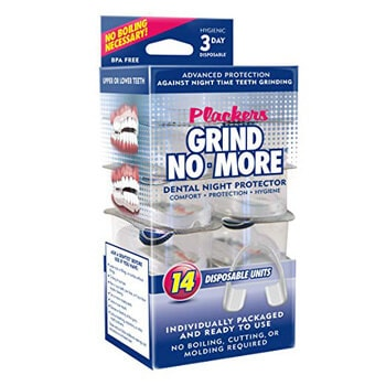 2. Plackers Grind No More Dental Night Guard for Teeth Grinding