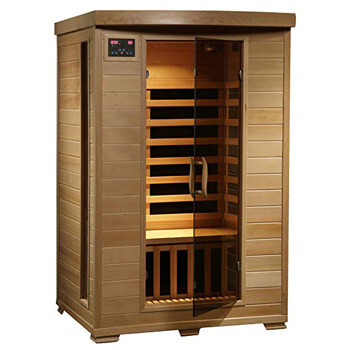 2. Radiant Saunas 2-Person Hemlock Infrared Sauna with 6 Carbon Heaters