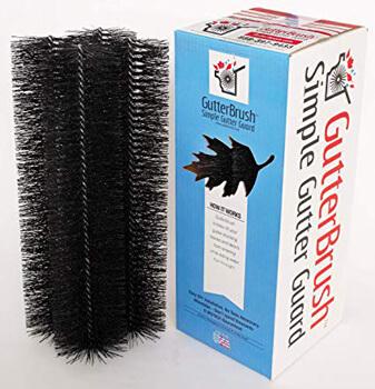 1. GutterBrush Leaf Gutter Guard for Standard 5 Inch Rain Gutters