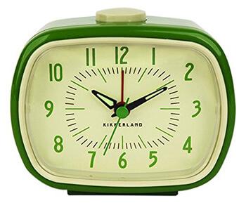 3. Kikkerland Retro Alarm Clock 1 EA Green