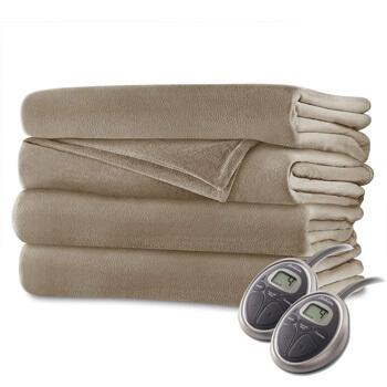 2. Sunbeam heated blanket velvet plush