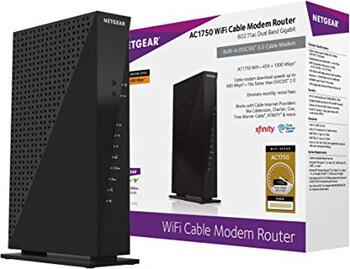 8. Netgear C6300-100NAS AC1750 (16x4) DOCSIS 3.0 WiFi Cable Modem Router Combo (C6300