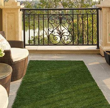 2. Ottomanson Garden Collection Solid Grass Design Runner Rug, 20