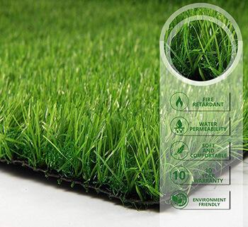 9. PZG Premium Deluxe Artificial Grass Patch w/ Drainage Holes