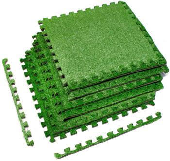 10. Sorbus Grass Mat Interlocking Floor Tiles