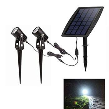 6. W-lite LED Landscape Solar Spotlights